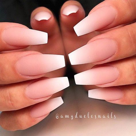 Simple Ombre For Coffin Acrylic Nails ❤ 30 Coffin Nail Designs You'll Want To Wear Right Now ❤ See more ideas on our blog!!! #naildesignsjournal #nails #naildesigns30 Perfect Coffin Acrylic Nails Designs To Sport This Season #longnails