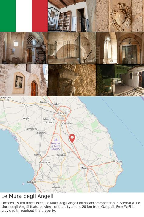 #europe #italy #sternatia Le Mura degli Angeli. Located 15 km from Lecce, Le Mura degli Angeli offers accommodation in Sternatia. Le Mura degli Angeli features views of the city and is 28 km from Gallipoli. Free WiFi is provided throughout the property.