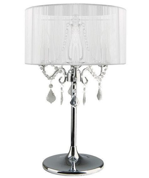Find Many Great New Used Options And Get The Best Deals For Paris 3 Light Chrome Table Lamp With White String Shade At Online Prices