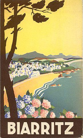 "Travel brochure ""Biarritz,"" circa 1935."