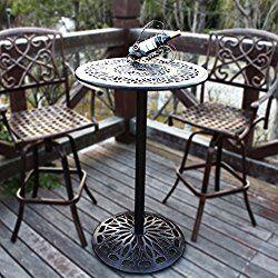 Homefun Outdoor Bar Height Table Bistro