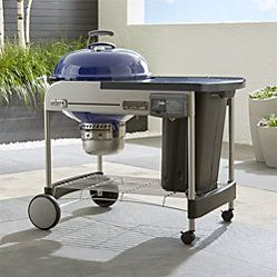 Weber Blue Performer Deluxe Charcoal Grill Outdoor Pizza Oven
