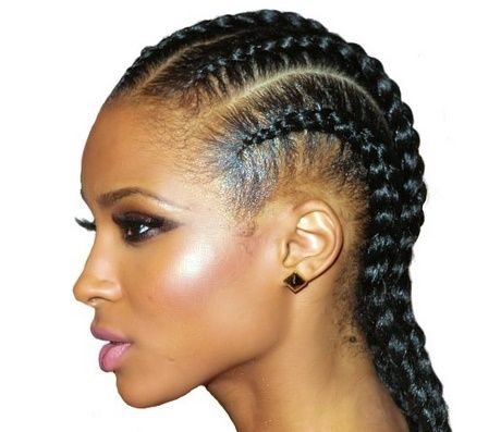 Tresse Africaine Natte Colle Tresses Africaines Coiffure Afro Natte Africaine