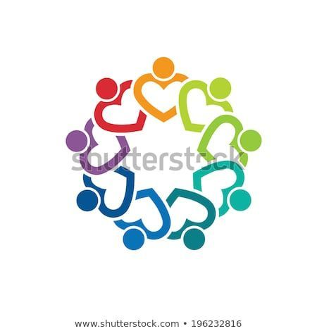 Team Heart 9 Concept Of Group People Community People Social Internet Network Business Connection Concept Media Christian Symbols People Logo Logos