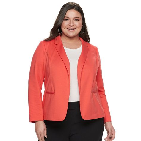 6bc3c1f96b Sexy Stretch Faux-Denim Blazer | Wardrobe | Denim blazer, Plus size blazer,  Blazer
