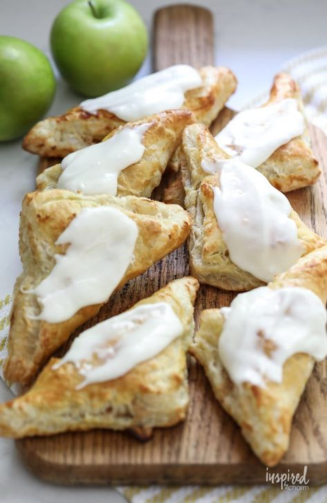 How to make Cream Cheese and Apple Turnovers #apple #creamcheese #turnovers #pastry #breakfast #fallbaking #recipe #applerecipe