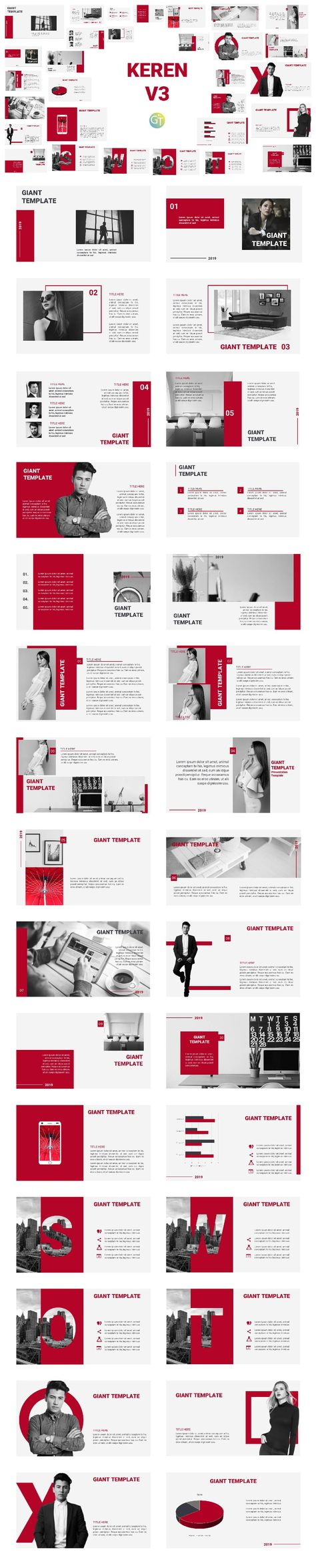 PTT Template Keren V3 31 slides free download