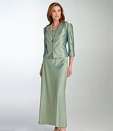 Grandmother Of The Bride KM Collections Beaded Jacket Dress Dillards