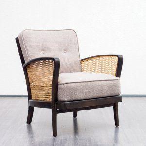 Velvet Point Sitzmöbel Sessel 50er Jahre Sessel Mit Bast