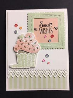 Birthday Card Cupcake Card Birthday Cupcake Stampin Up Card Handmade Birthday Card Birthday Greeting Card for Birthday Handmade Card