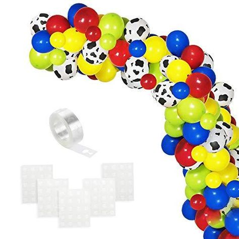 Colorful Balloons… - Cow Pattern