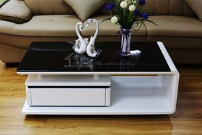 White Black Centre Table Living Room Center Table Decor