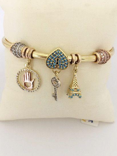 باندورا ذهب عيار 18 باندورا عيار 18 ماركة اللؤلؤة خصم 15 على المصنعية Jewelry Jewelrymaking Love Women Go Pandora Charm Bracelet Jewelry Charm Bracelet