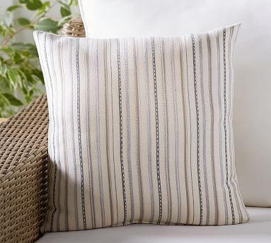 Sunbrella 0174 Langston Stripe Indoor Outdoor Pillow Potterybarn Outdoor Pillows Indoor Outdoor Pillows Pillows
