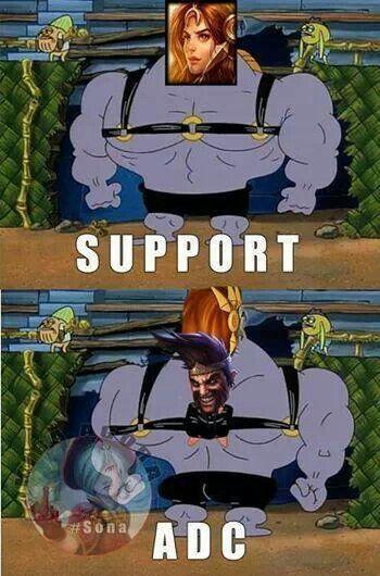 Support Adc Lol League Of Legends League Of Legends Comic League Memes