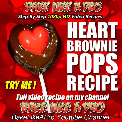 EASY HEART BROWNIE POPS RECIPE ►►► CLICK PICTURE for video recipe