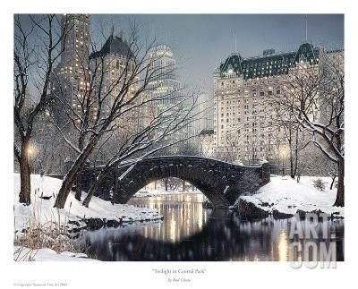 CITYSCAPE ART PRINT Twilight In Central Park Rod Chase