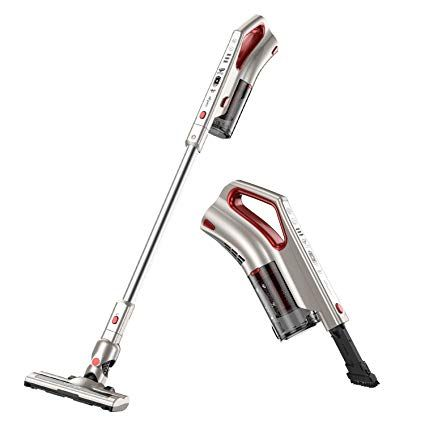 Comfyer Cordless Vacuum Cleaner 2 In 1 Bagless Stick Vacuum 8kpa Multi Cyclonic Suction Led Power Brush Stick Vacuum Handheld Vacuum Cordless Vacuum Cleaner
