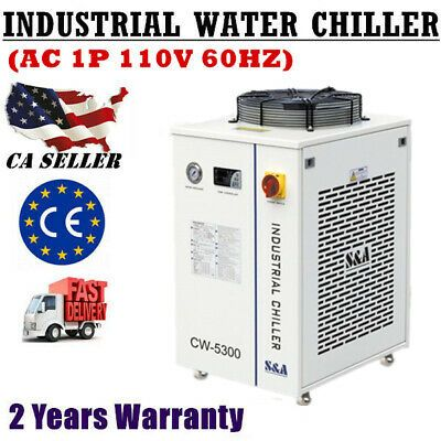 S A Cw 5300di Industrial Water Chiller Ac 1p 110v 60hz For 18kw Cnc Spindle In 2020 Cnc Spindle Water Chillers Ebay