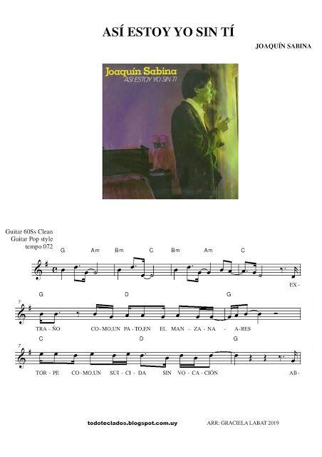 Así Estoy Yo Sin Tí Joaquín Sabina Partituras Joaquín Sabina Andy Gibb