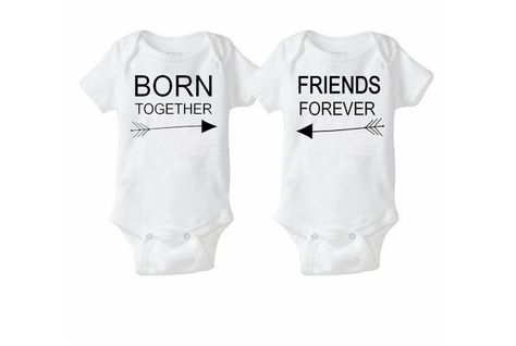 Summer Fashion Twin Set Onesies