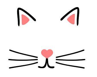 Cat Face Svg Pdf Png File Festas De Aniversario De Gatinho Festa De Gatinho Festa Gato