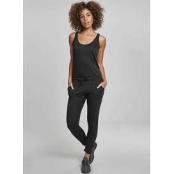 Urban Classics Damen Jumpsuit Overall Playsuit Ladies Melange Jumpsuittb2607 black Spaghetti S Urban