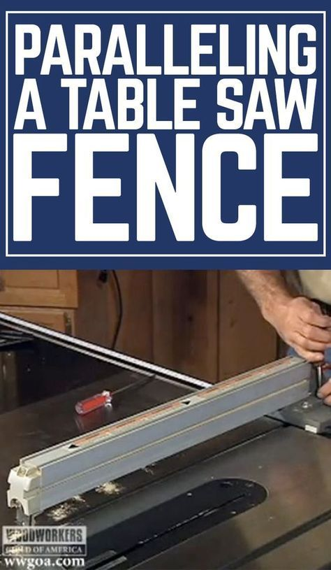 Master woodworker George Vondriska shows you how to parallel your table saw fence for woodworking projects. A WoodWorkers Guild of America (WWGOA) original video.