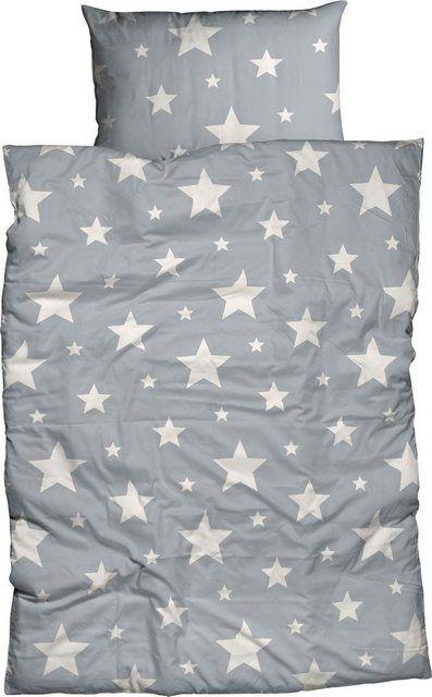 Kinderbettwasche Sterne Mit Grossen Und Kleinen Sternen