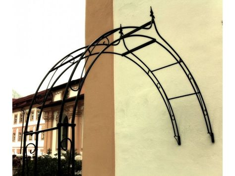 Rosenbogen 12mm Massiveisen KUHEIGA Wand 160cm Verzinkt Wandrosenbogen aus Metall Breite