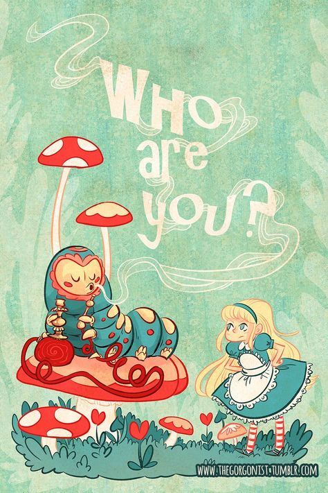 Who Are You in Alice In Wonderland print Alice In Wonderland Games, Alice In Wonderland Mushroom, Alice In Wonderland Aesthetic, Alice In Wonderland Illustrations, Wonderland Party, Crazy Hat Day, Crazy Hats, Mad Hatter Costumes, Pirate Costumes