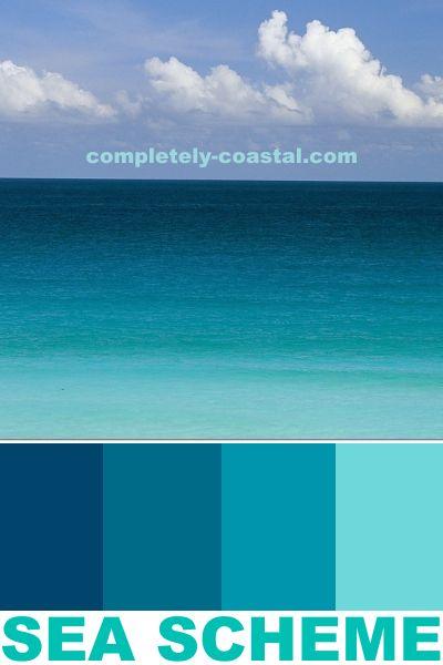 Coastal Seaside Color Schemes Paint Color Ideas Coastal Color