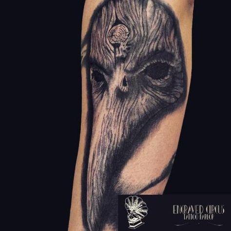 taty Engraved circus tattoo parlour...