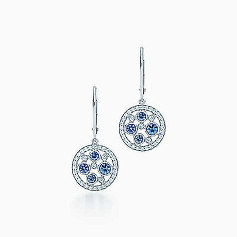 380047e8d Tiffany Cobblestone earrings in platinum with Montana sapphires ...