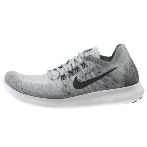 separation shoes bd06d 91ce8 Nike Free RN Flyknit 2017 Womens 880844-002 Wolf Grey Running Shoes Size 9.5