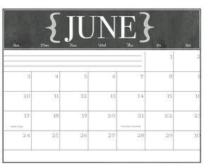 2018 Chalkboard Calendar Printable Calendar Printables Chalkboard Calendar Calendar