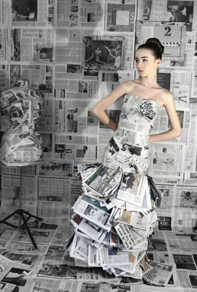 Newspaper dress!! | Mastering the Ethics of Fashion
