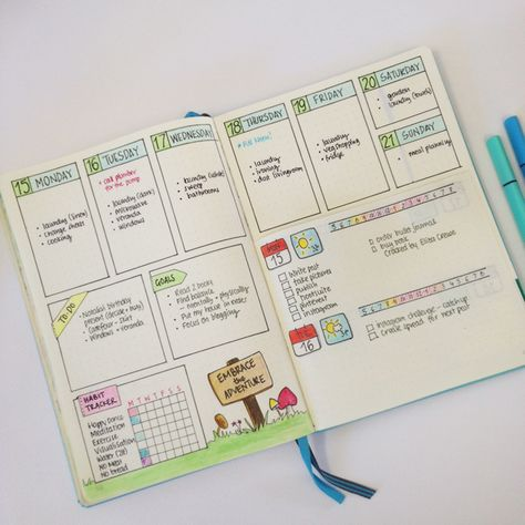 Showing you how to use the 'Dutch door' system in your bullet journal as well as…
