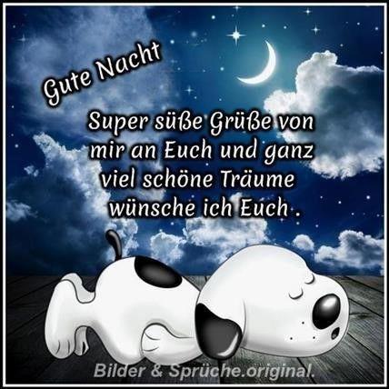 Per grüsse gute whatsapp nacht Gute nacht