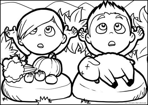 Cain And Abel Coloring Pages Cain And Abel Bible Printables