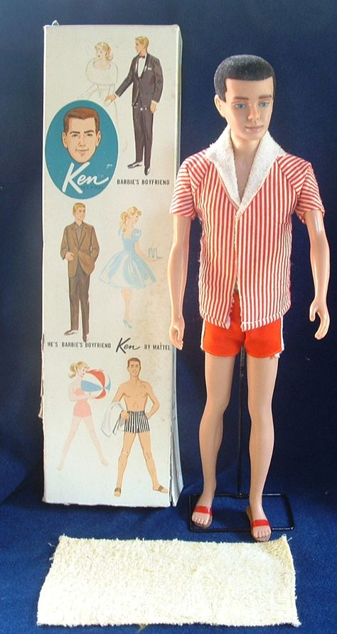 My first Ken doll looked like this.  Fortunately, I was too young to ask my parents any questions about his lack of physical correctness.