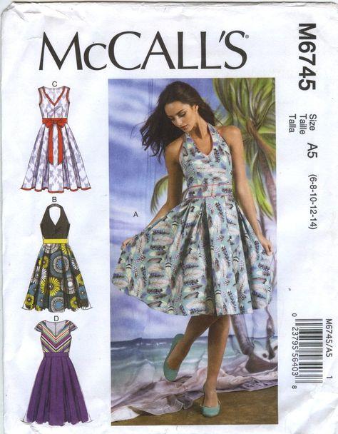 a4981fadadd McCall s 6745 Misses  Dresses