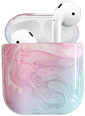 Amazon Com 2019 Newest Airpods Case 360 Marble Airpods Hard Protective Case Accessories Kit Compatiable With Ap Airpod Case Cute Phone Cases Protective Cases