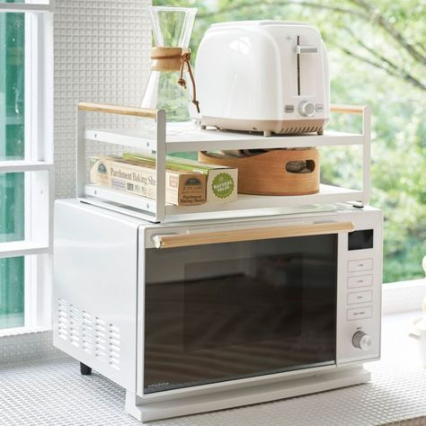 Yamazaki Tosca Microwave Oven Top Rack Reviews Crate And Barrel In 2021 Very Small Kitchen Design Kitchen Design Kitchen Design Small