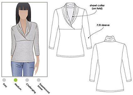 Sizes 18-30 /Jane /über Shirt Stil Arc Schnittmuster/