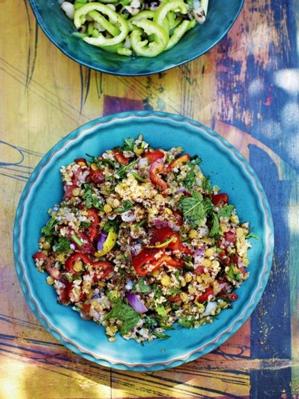 Bulgur Lentil Salad Recipe Lentil Salad Tasty Vegetarian Recipes Bulgur Recipes