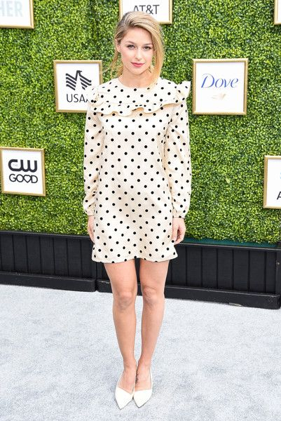 Melissa Benoist attends The CW Network's Fall Launch Event.