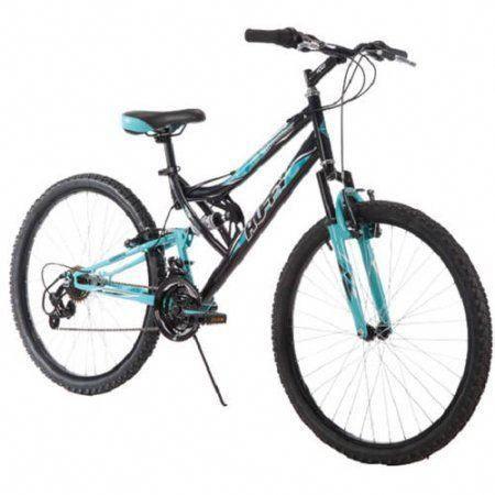 Huffy 26 Trail Runner Womens Mountain Bike Metallic Pool Blue Walmart Com In 2020 Mountain Bike Accessories Mountain Biking Bike Accessories