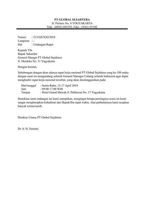 Contoh Surat Dinas Rapat Guru Contoh Surat Dinas Rapat