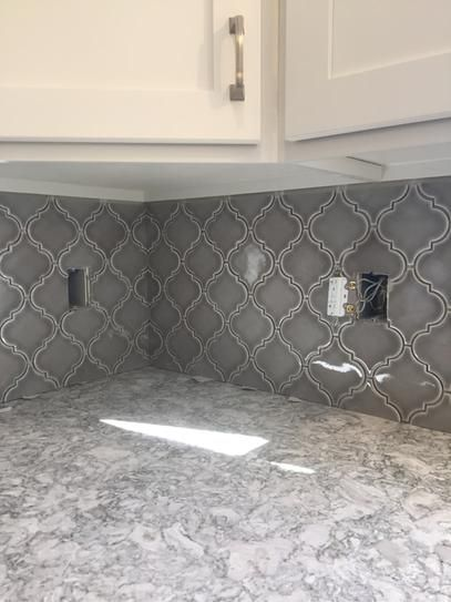 Ms International Dove Gray Arabesque 10 1 2 In X 15 1 2 In X 8 Mm Glazed Ceramic Mesh Kitchen Backsplash Designs Kitchen Tiles Backsplash Backsplash Designs